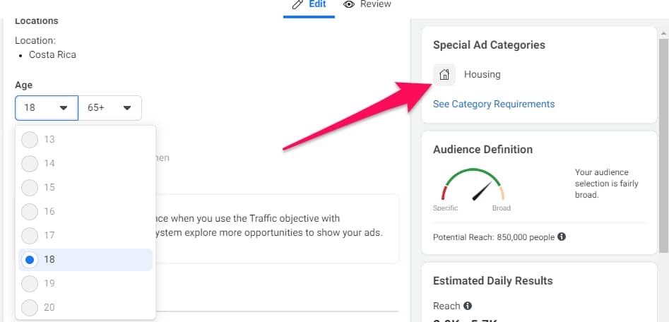 How to target expired listings on Facebook